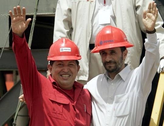 Chavez and Ahmadinejad (AP)