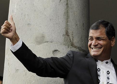 Ecuador's President Rafael Correa / AP