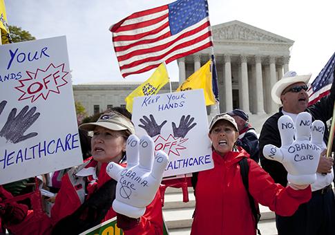 Obamacare protestors / AP