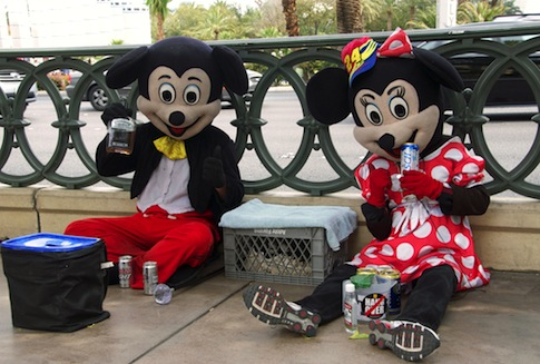 Mickey and Minnie Mouse getting drunk with Uncle Sam's money / AP
