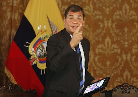 Ecuadorian President Rafael Correa / AP