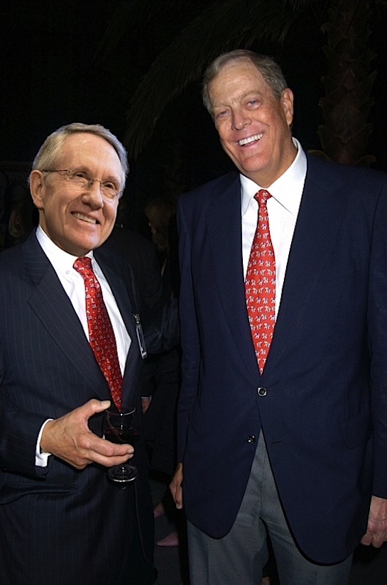 Koch-funded politician Harry Reid.