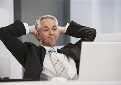 Man working hard