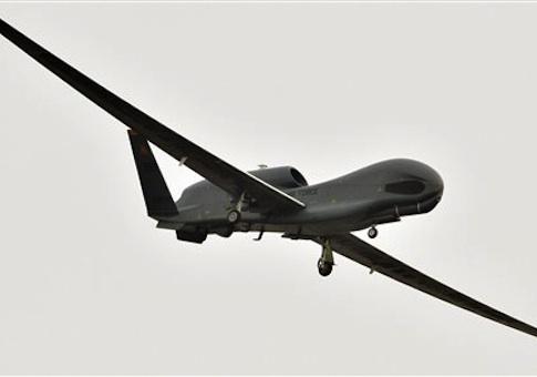 A U.S. Global Hawk surveillance drone