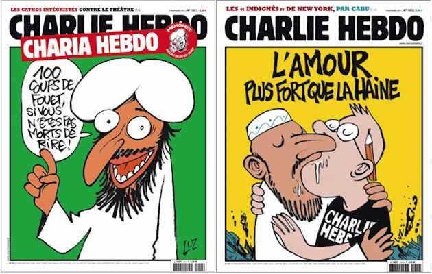 charlie hebdo Paris journalist cartoons