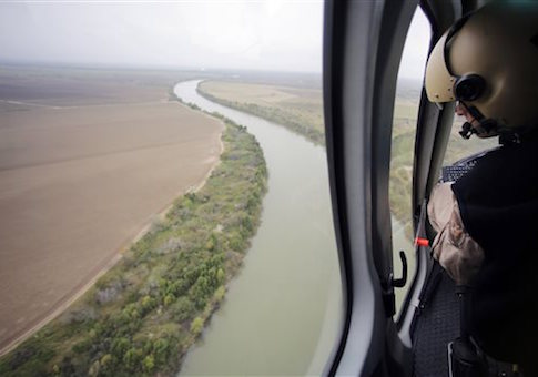 U.S. Customs and Border Protection Air and Marine agents patrol along the Rio Grande on the Texas-Mexico border
