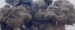 Smoke rises after Russian airstrikes in Syria
