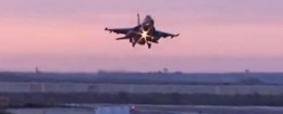 'An Egyptian fighter jet lands in Egypt' from the web at 'http://s1.freebeacon.com/up/2015/12/Egyptian-plane-260x105.jpg'