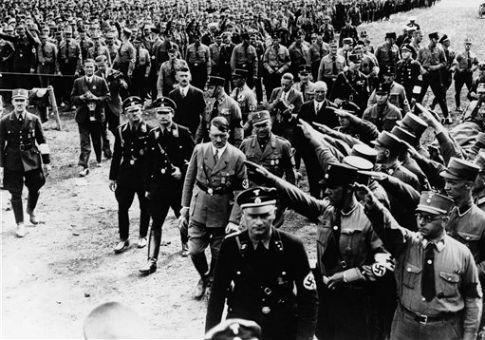 Adolf Hitler at Nuremberg in 1933 / AP
