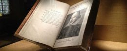 A copy of the First Folio at the Folger Shakespeare Library / Wikimedia Commons