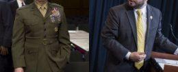 Retired Marine Gen. James Mattis and Rep. Ruben Gallego (D., Ariz.) / AP