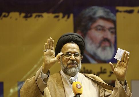 Iranian intelligence minister Mahmoud Alavi