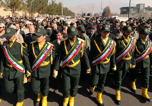 Members of the Iranian Revolutionary Guard Corps