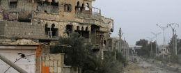A general view of destruction in the eastern Syrian city of Deir Ezzor