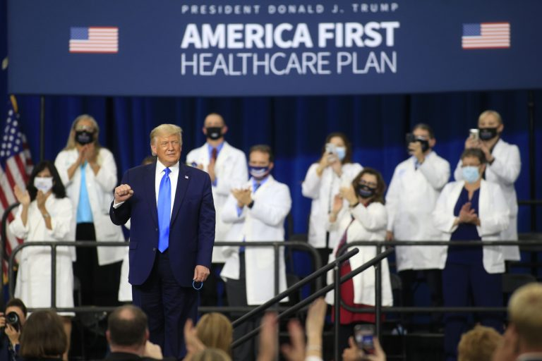 President Trump Delivers Remarks On His Healthcare Policies In North Carolina